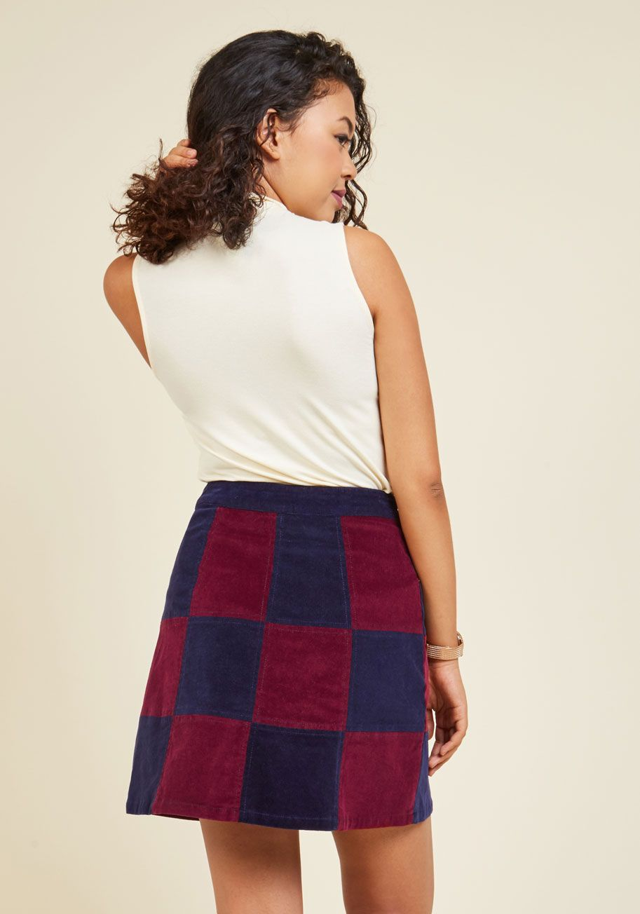 Patchwork It Out Skirt. Solve style issues before they even arise by…
