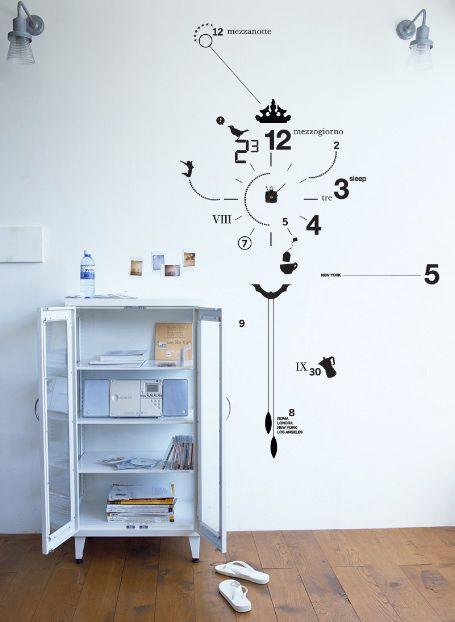 vinyl wall decal clock from artstick | office design | pinterest