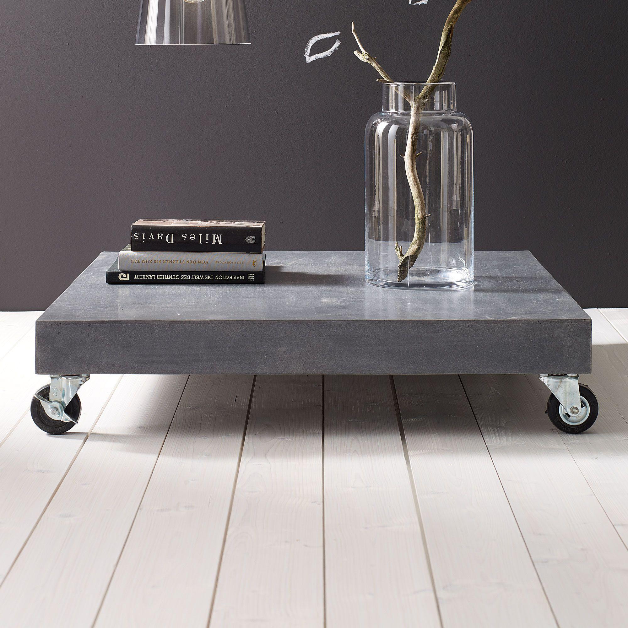 Couchtisch in grau impressionen living concrete for Couchtisch impressionen