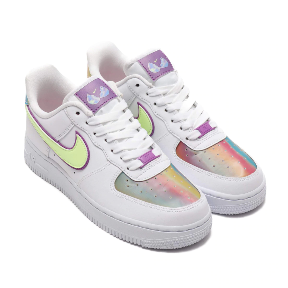 NIKE WMNS AIR FORCE 1 EAS WHITE/BARELY VOLT-HYPER BLUE 20SU-I ...