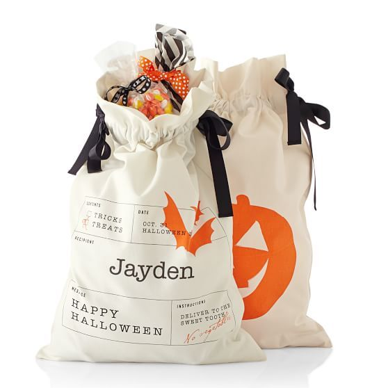 Trick-or-Treat Sack Mark and Graham Fall Decorating Pinterest - decorate halloween bags