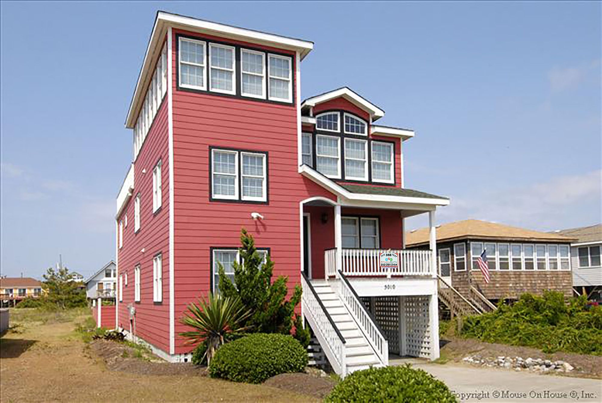 368 The Painted Lady Atlantic Realty Nc Kitty Hawk Semi Of Beach Rd 5 Bedrooms Turn Day Su Outer Banks Vacation Rentals Outer Banks Vacation Beach Bedroom