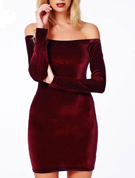 Vestido Veludo Vinho feminino   Shoelover