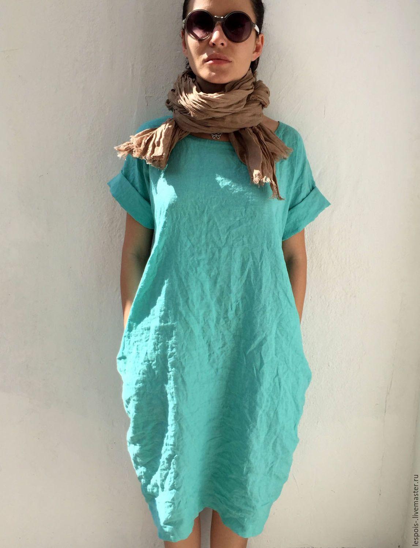 a5cbd1d5c9b8 Льняное платье – купить или заказать в интернет-магазине на Ярмарке Мастеров    Льняное платье
