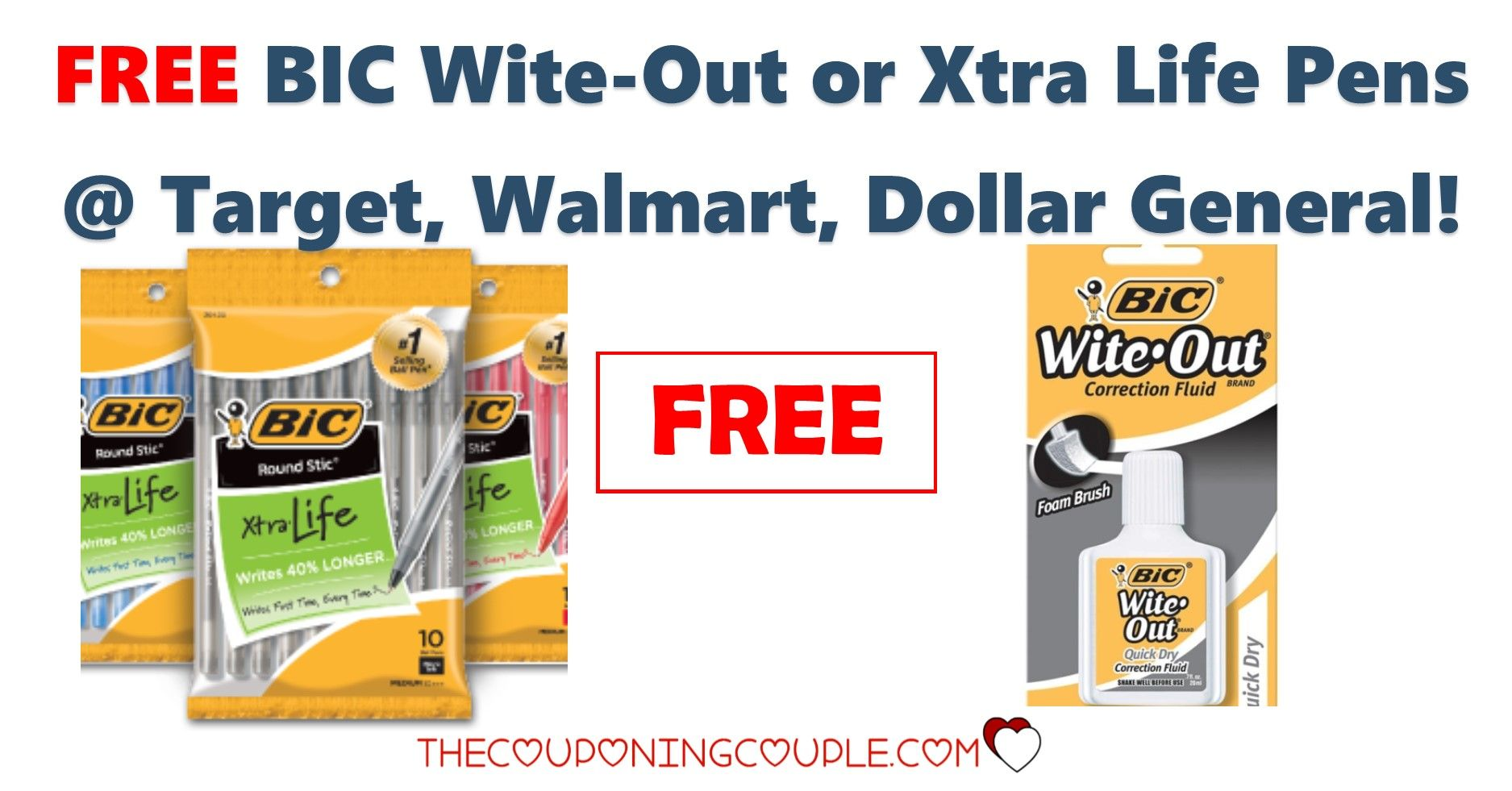 CHEAP or FREE BIC WiteOut or Xtra Life Pens Target