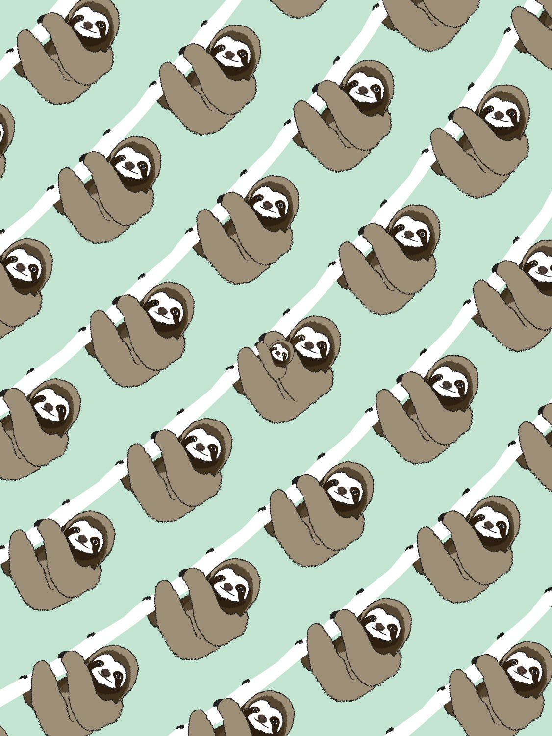 Sloth Pattern By Paper Co