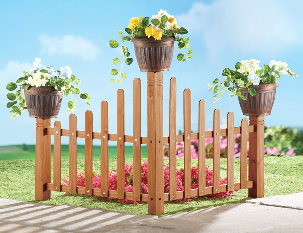 Collections Etc Wooden Corner Garden Planter Fence #CollectionsEtc #Casual  #AllOccasion