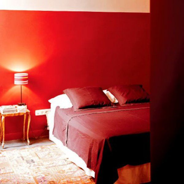 Awesome Chambre Peinture Orange Fonce Contemporary - lalawgroup.us ...