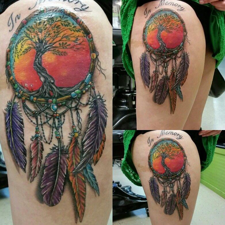 Dream catcher tattoo by jeffrey ziozios at bay city