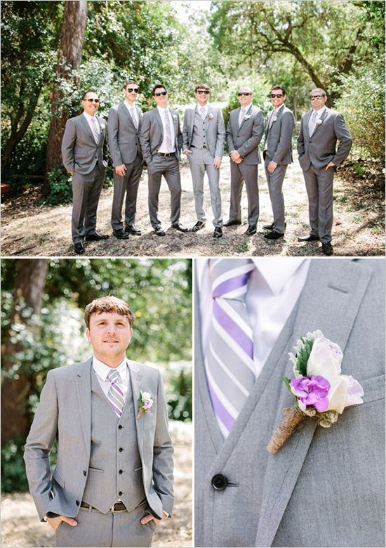 Image result for gray suits with lavender | wedding | Pinterest ...