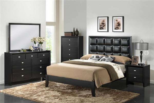 Black Contemporary Bedroom Set Magnificent Carolina Black Cherry Wood Master Bedroom Set  Bedrooms Set Decorating Inspiration