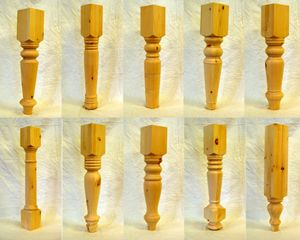 Table Leg Patterns In Knotty Pine