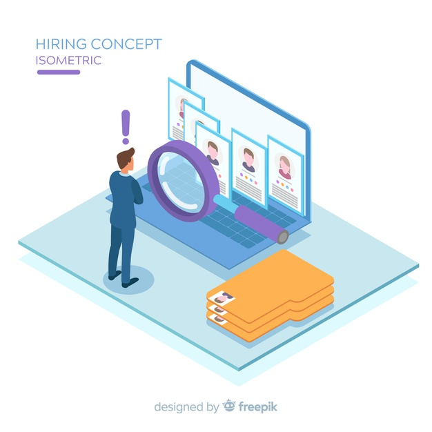 Download Hiring Isometric Background for free Youth jobs