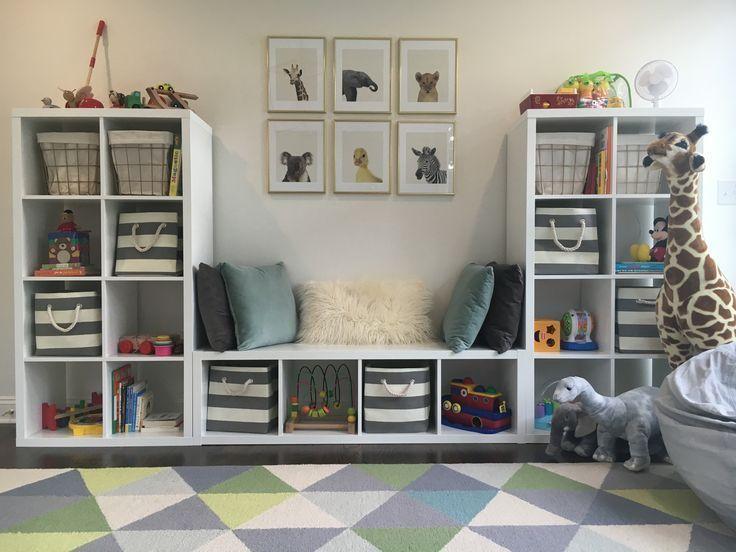 7 + 1 idées de rangement de jouets Plans de bricolage dans une petite pièce – #DIY #I … …