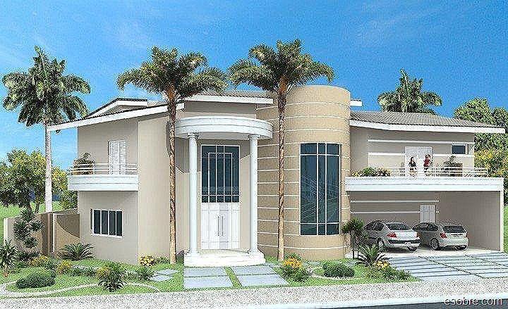 Fotos de fachadas de casas modernas e bonitas sobrados for Casas modernas fachadas bonitas