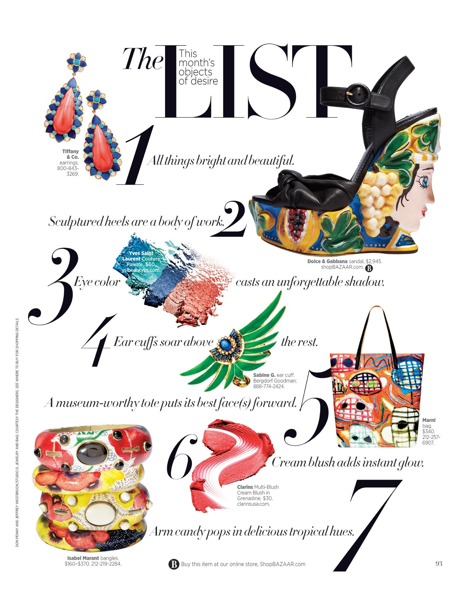 THE LIST! HARPER'S BAZAAR May 2014