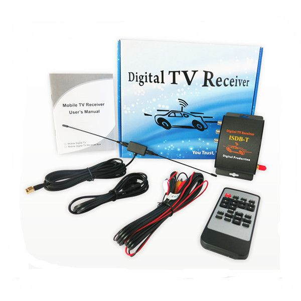 Mobile Car ISDB-T Digital TV Tuner Box Receiver for South America Brazil Peru