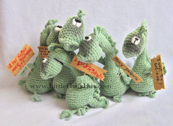 007 Dragon Draco - Amigurumi crochet pattern - PDF file by Pertseva ...