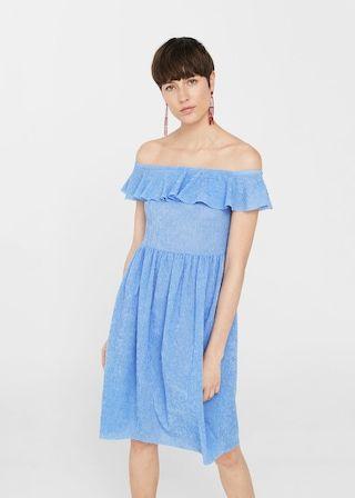 4d5fa6c0ff Vestido textura volante - Vestidos de Mujer