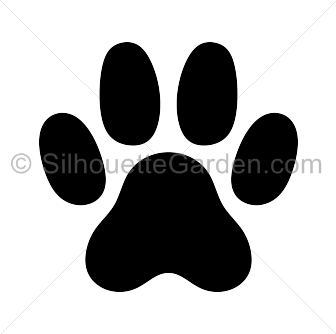 Cat Paw Print Silhouette Cat Paw Print Cat Paws Cat Tattoo