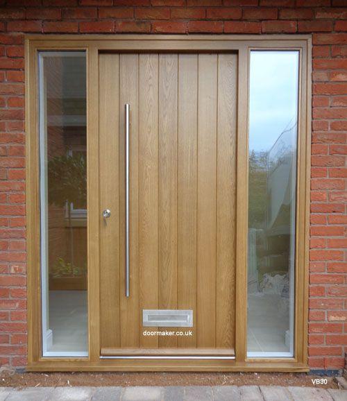 Contemporary Oak Door Sidelights Design Pinterest Oak Doors