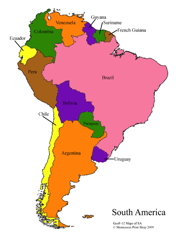 South America Maps Masters South America Map America Map