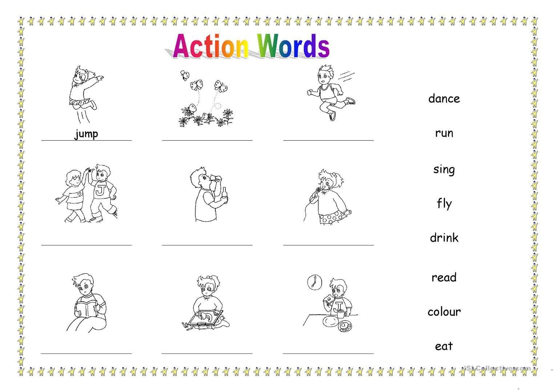 25 Free Esl Action Words Worksheets Printable For