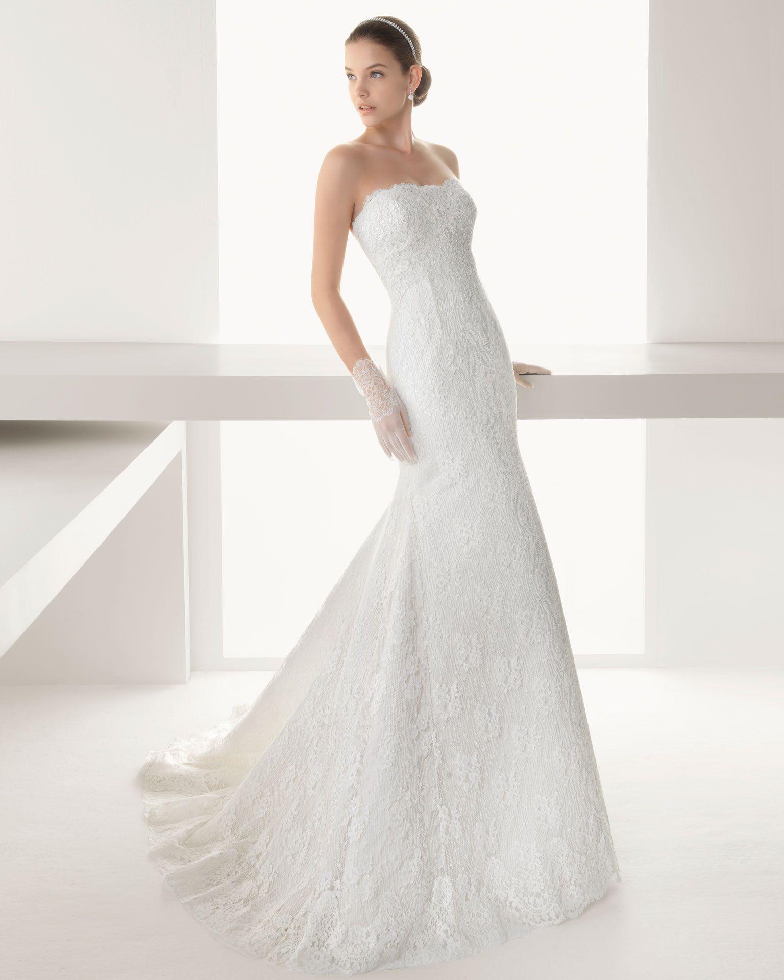 BAVIERA - Vestido de encaje rebrodé en color marfil 726 Chaqueta de ...