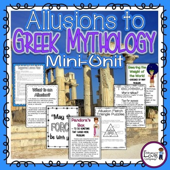 Allusions To Greek Mythology Ccss Rl44 Lesson Plan Examples