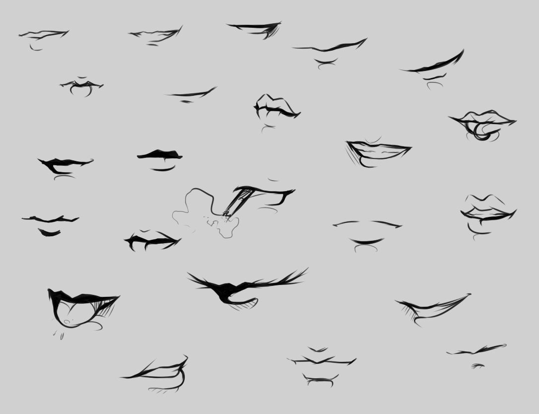 Mouth Reference By Ryky On Deviantart Mouth Drawing Lips Drawing Drawings