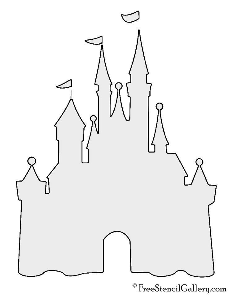 Disney Castle Stencil Disney Castle Stencil In 2020 Disney Castle Silhouette Disney Stencils Disney Castle Outline