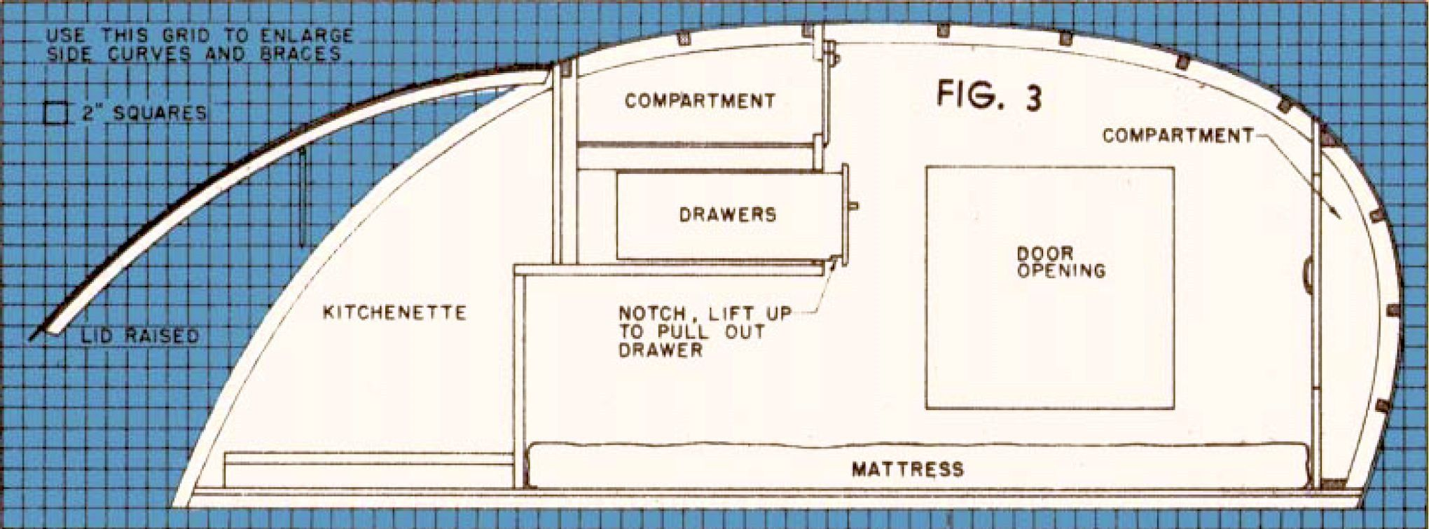 Trailer for two 11 trailer box pinterest teardrop for Small trailer plans free