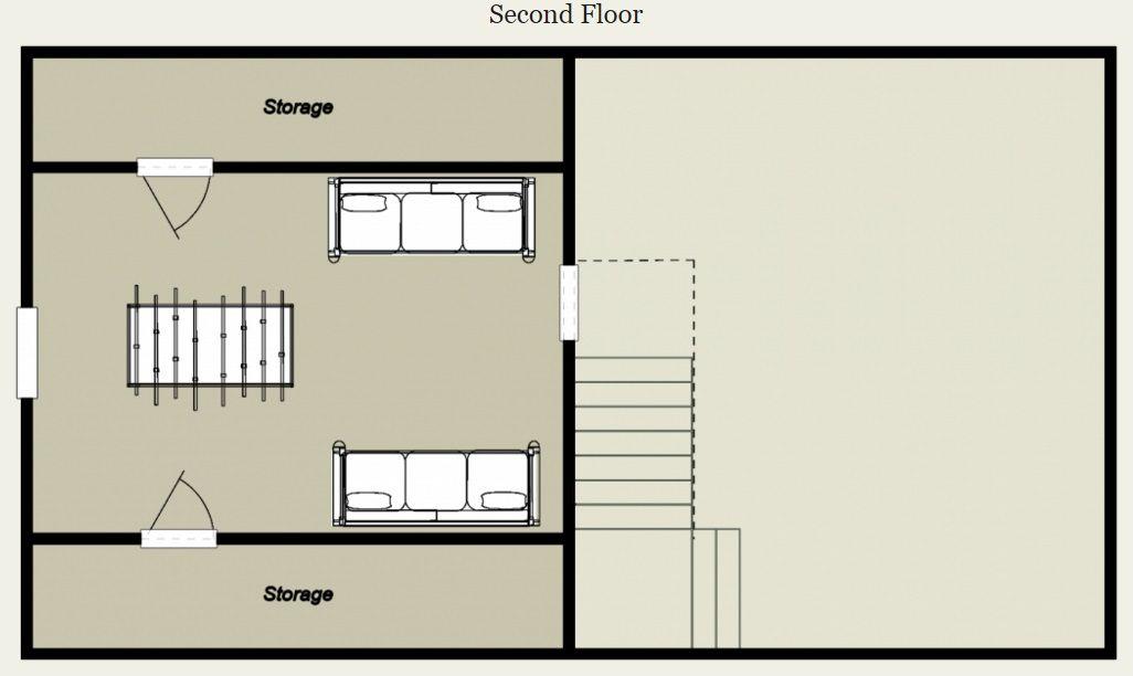 Mountain King Log Cabin Floor Plan  Budget Cabins