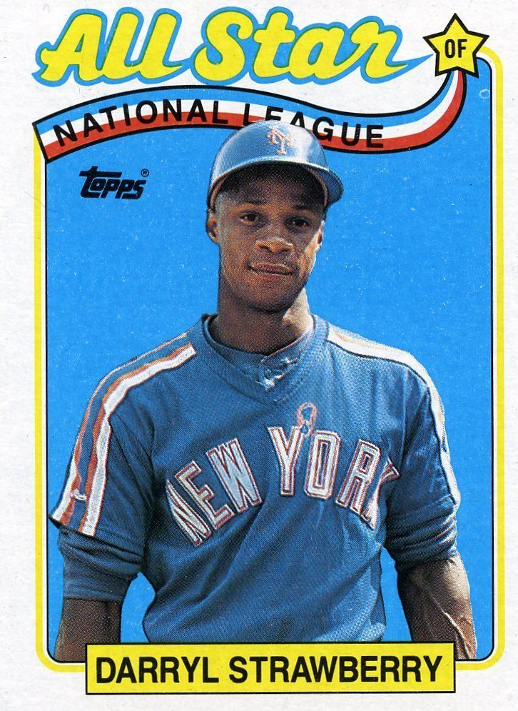 bfb1ff61c2c RARE 1989 TOPPS ALL STAR DARRYL STRAWBERRY NEW YORK METS MINT  NewYorkMets