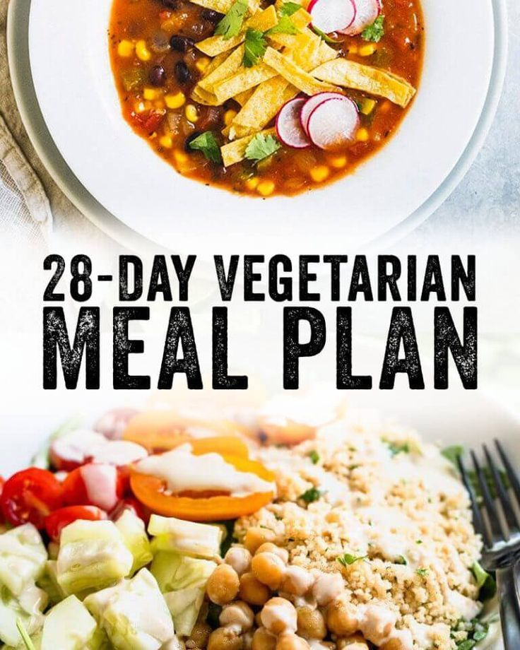 28 Day Vegetarian Meal Plan (With images) Vegetarian