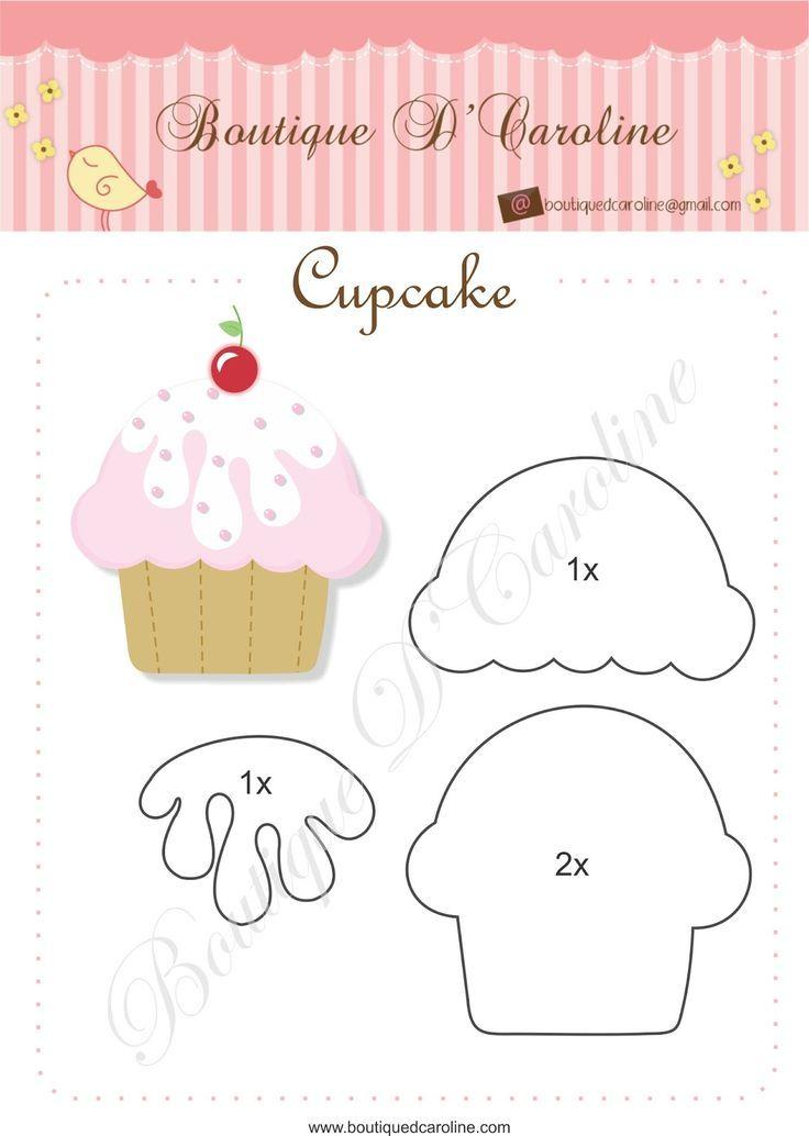 Moldes para hacer cupcakes de fieltro Related Post Patrones para ...