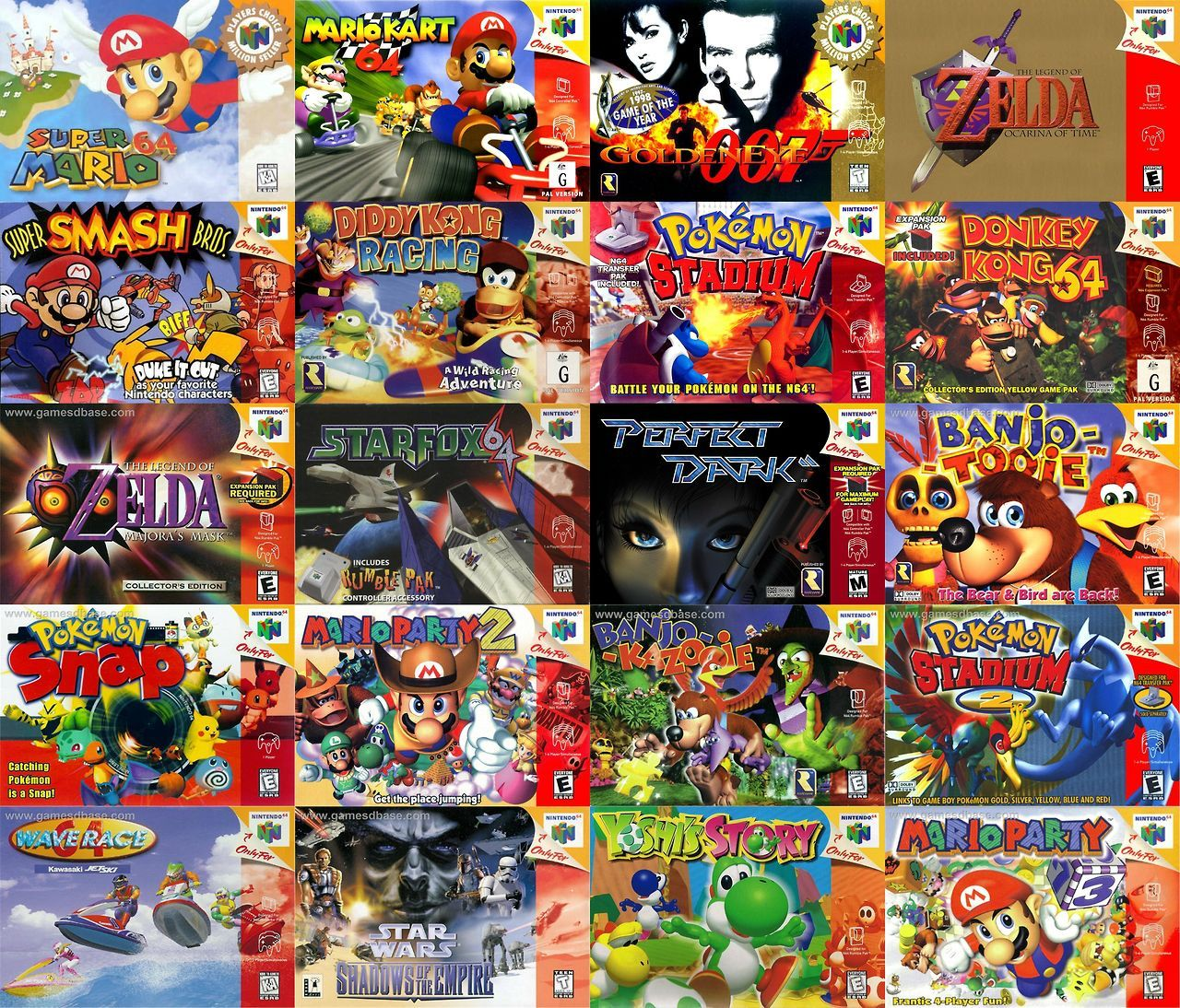 20 Best-Selling N64 Games via Reddit user likwitsnake