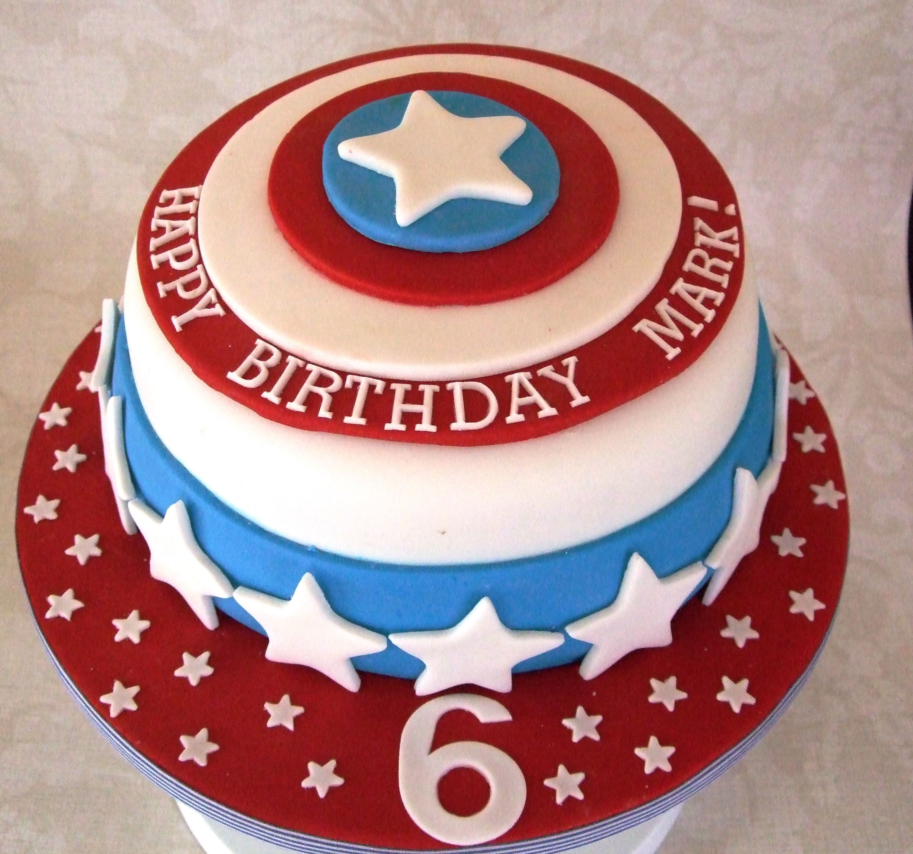 Captain America Bithday Cake With Images Captain America