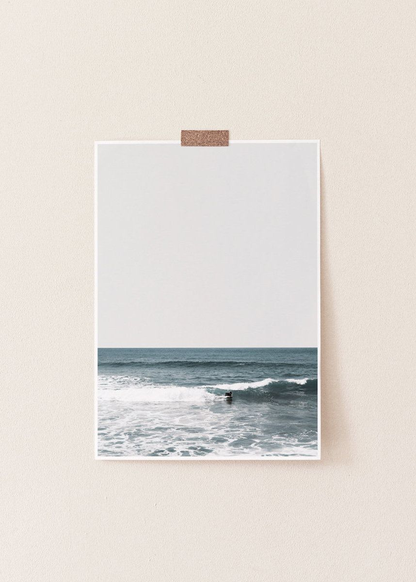 Photography surf art surf print beach print blue wall art beach