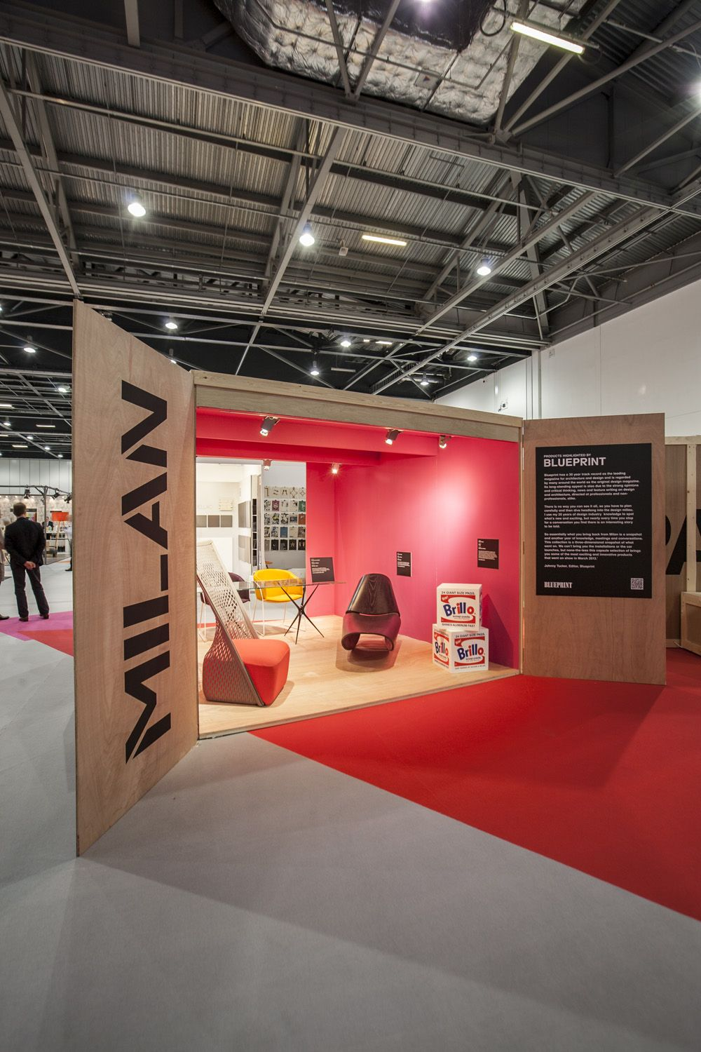 Exhibition Stand Carpet : The doors facing outwards with the use of carpet creates an