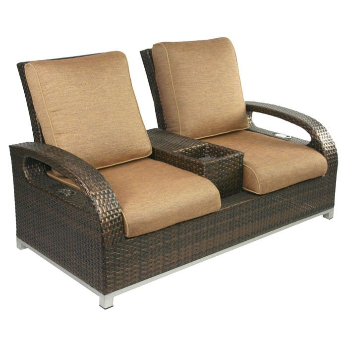 Hamptons Reclining Loveseat Love Seat Outdoor Recliner Outdoor Loveseat