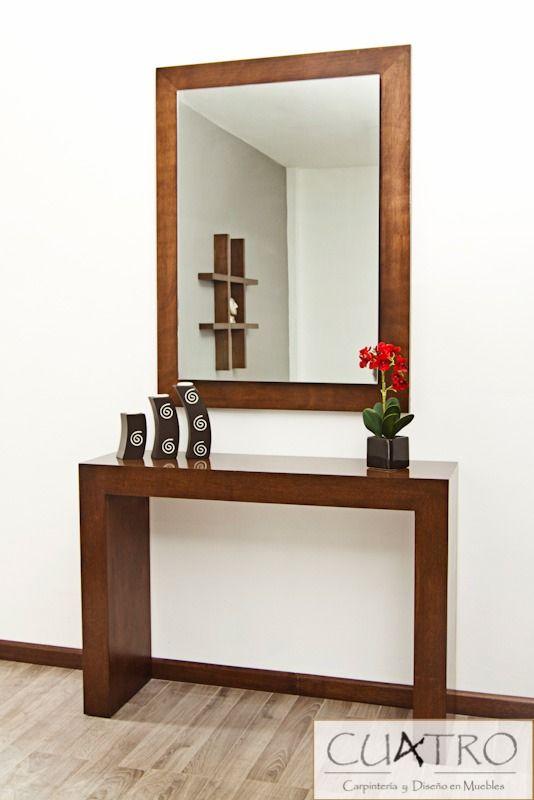 Consola mesa grapa credenza bufetera maderas finas - Mesa de recibidor ...