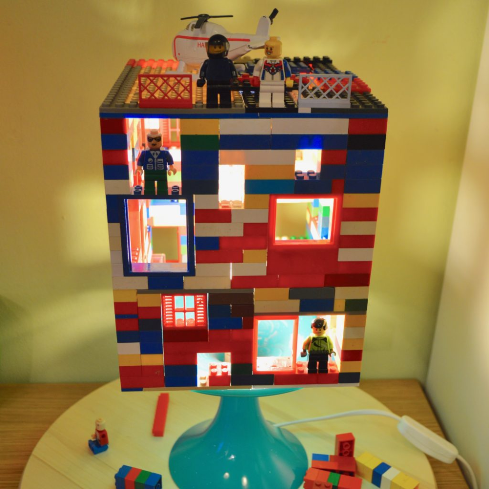 lego lamp.. great for a boys room