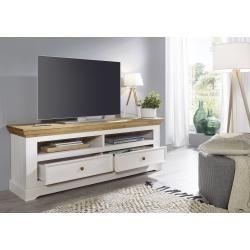Photo of Lowboard TV-skap Viborg Ii, 169 x 63 x 42 cm, hvit, krøllet