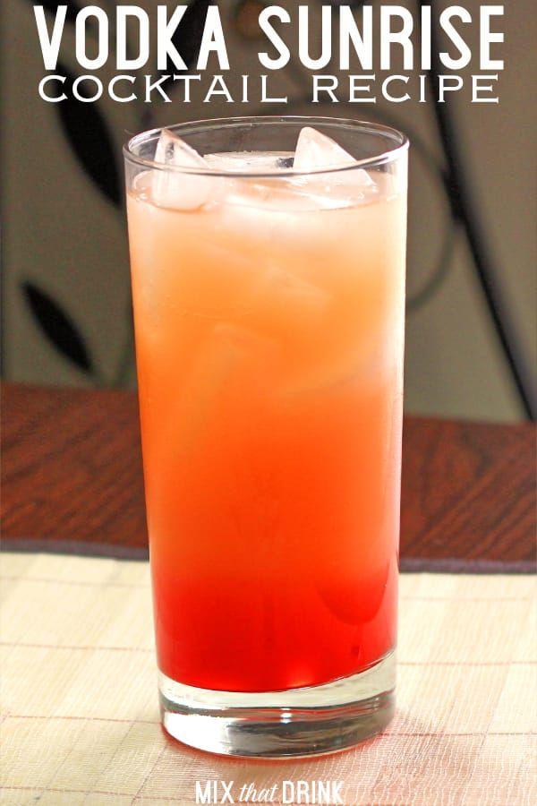 Vodka Sunrise Cocktail