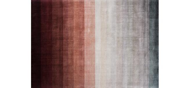 Viskose-Teppich Combination rot, ca 170x240 cm, handgewebt