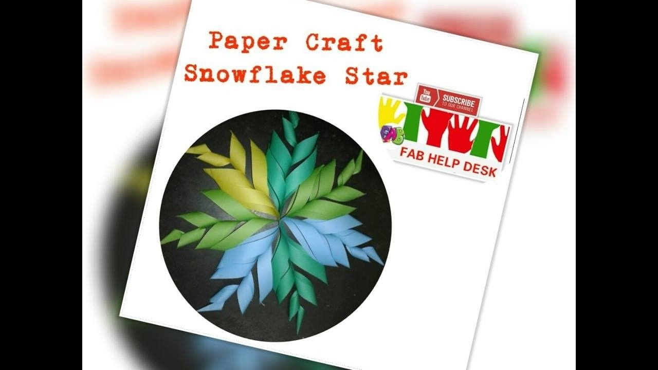 How to make snowflake star paper craft origami flower origami how to make snowflake star paper craft origami flower mightylinksfo