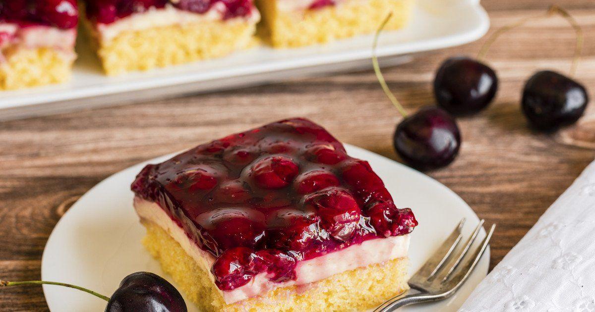 Kirsch Schmand Blechkuchen Rezept In 2020 Blechkuchen Backrezepte Und Kuchen