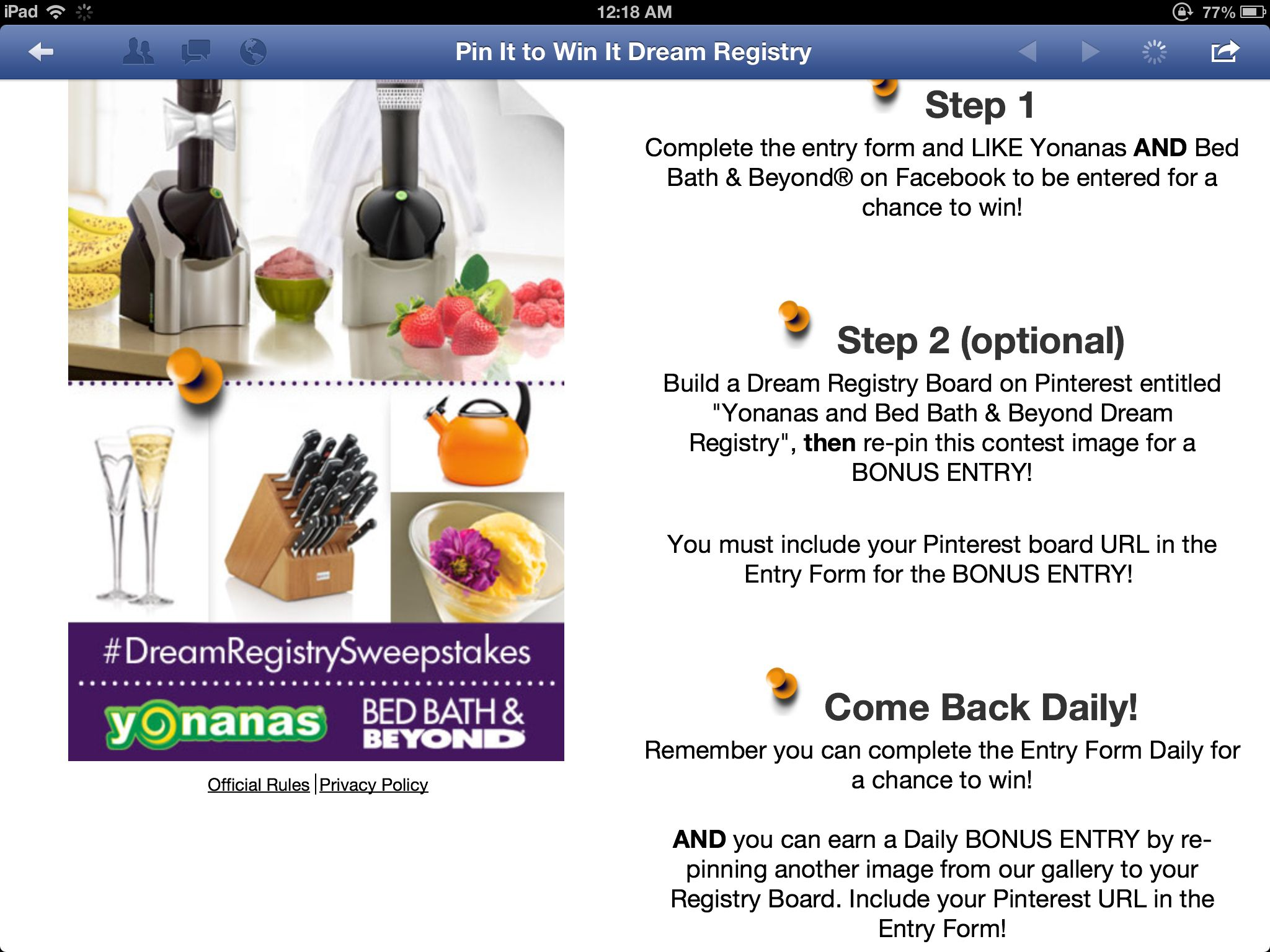 Bed Bath and Beyond Registry | Yonanas and Bed Bath & Beyond Dream ...
