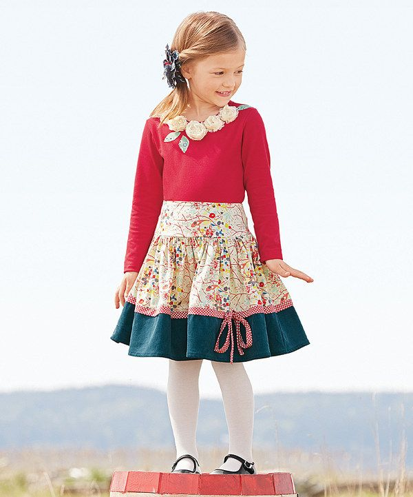 Look at this Ivory Autumn Leaves Skirt - Toddler & Girls on #zulily today!